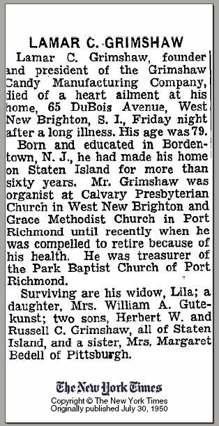 William & Emily (Brown) Grimshaw – Grimshaw Origins and History